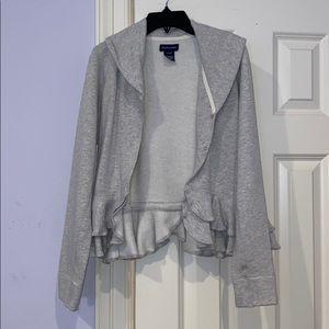 YOUTH Ralph Lauren Grey ruffle jacket